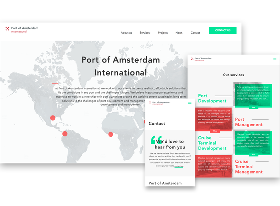 port of amsterdam website